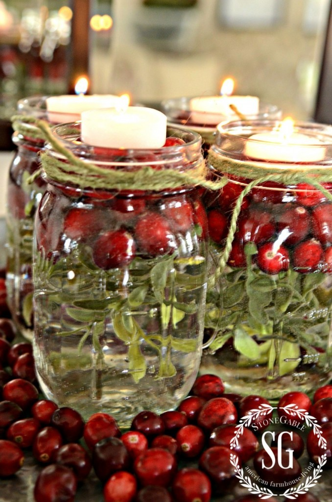 BETTER-LATE-THAN-NEVER-MASON-JARS-IN-TEA-LIGHTS-greens-and-cranberries-stonegableblog.com_-678x1024